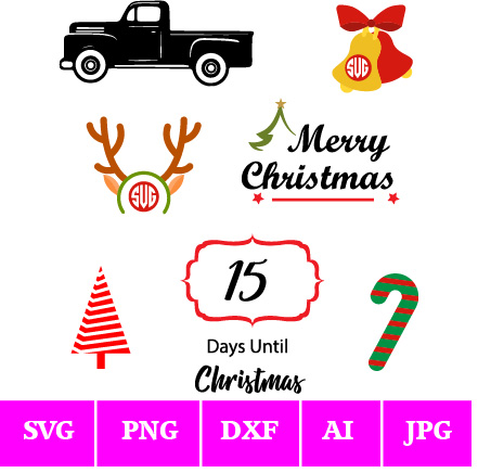 Days Until Christmas Svg Free.Page 8 Of 10 Insideoutlined