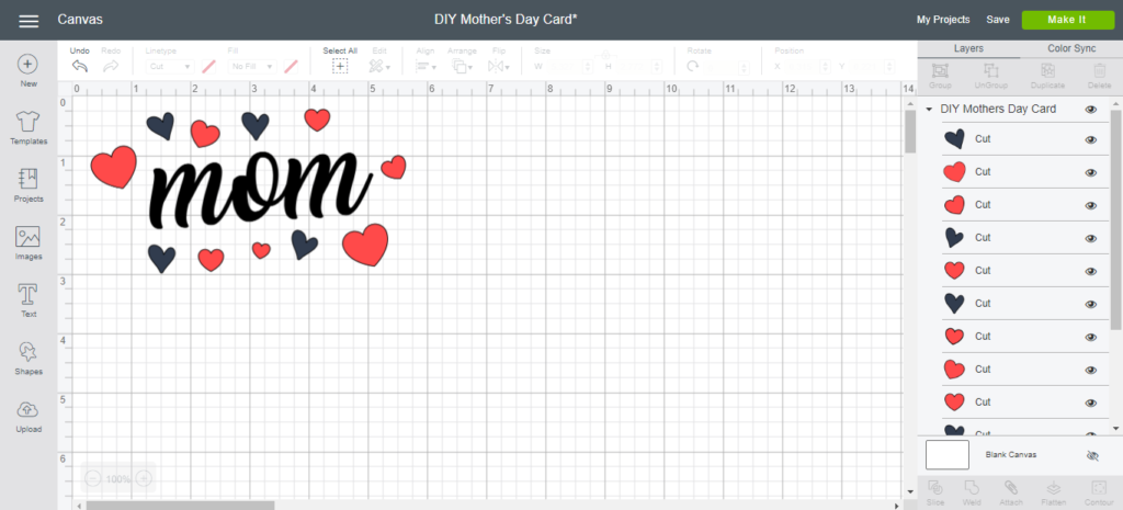 Free Mothers day crafts for kids. Diy Mother S Day Card Insideoutlined SVG, PNG, EPS, DXF File