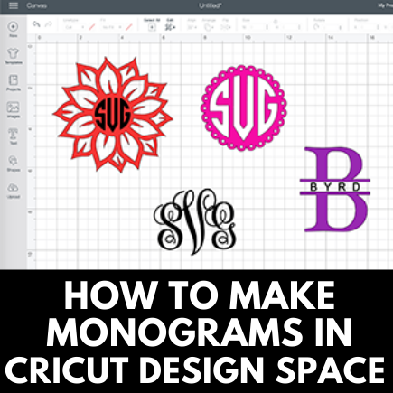Cricut Monogram Tutorial In Design Space Insideoutlined
